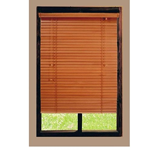 Golden Oak 2 in. Basswood Blind - 23 in. W x 64 in. L
