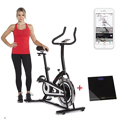 fitbill Innovative Fitness:Smart Indoor Cycling Bike W/Bluetooth Scale & Free Workout App