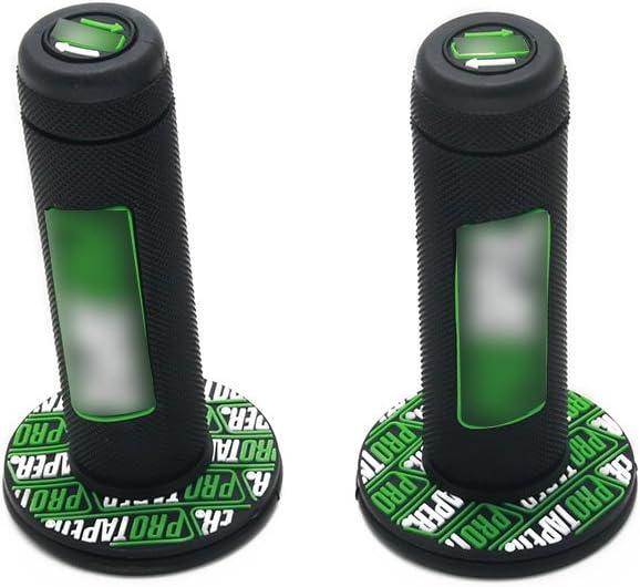 soporte de barra de elevaci/ón empu/ñaduras almohadillas de manillar impreso para motocicleta Kawasaki KX65 KX85 KX125 KX250 KX500 Verde YSMOTO 1 1//8 28 mm manillar de moto de cross
