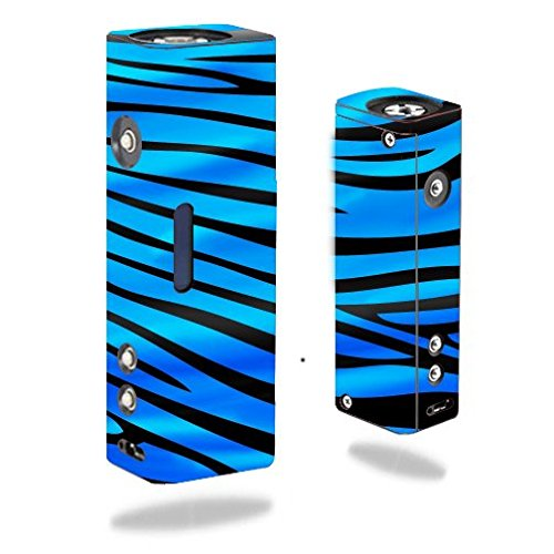 Decal Sticker Skin WRAP - Hana Modz V4S DNA 40 Single - Vibrant Blue Zebra Stripe Design