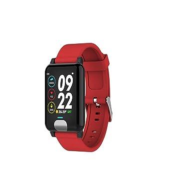 TNUGF Montre connectée Bracelet Intelligent E04ECG + PPG Bracelet ECG fréquence Cardiaque Pression de Fonctionnement opération