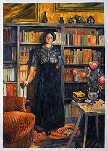 Mademoiselle Jacqueline Fontaine - Édouard Vuillard high quality hand-painted oil painting reproduction,Portrait Girl Standing,Study Room Wall Art - Standing Portrait