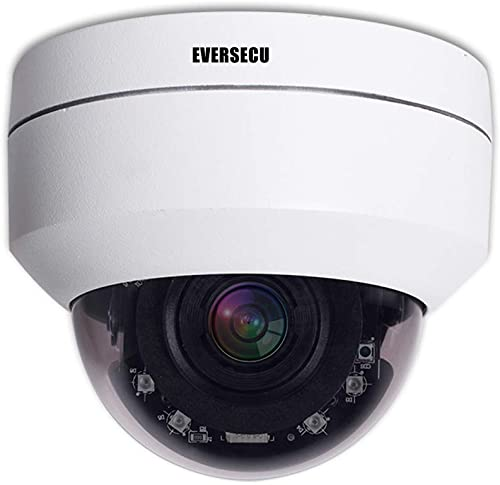 EVERECU Vandalproof PoE PTZ Camera HD1080p Auto-Focus 2.5 Mini Dome Security IP Camera 4X Optical Zoom 2.8-12mm IR Night Vision Pan Tilt Zoom Security Dome CCTV Camera for Ceiling Installation