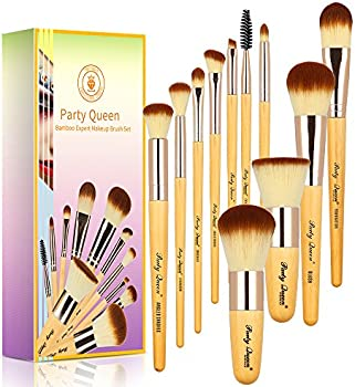 Party Queen 11 Pieces Bamboo Makeup Brush Kit With Box