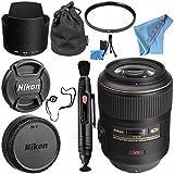 Nikon AF-S VR Micro-NIKKOR 105mm f/2.8G IF-ED Lens 2160 + 62mm UV Filter + Lens Pen Cleaner + Fibercloth + Lens Capkeeper + Lens Cleaning Kit Bundle
