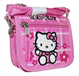 New Sanrio Hello Kitty Pink Shoulder Strap String Wallet with Flowers (JoyAve), Bags Central
