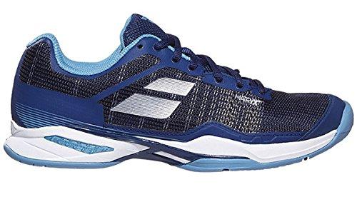 Babolat Women's Jet Mach 1 AC Tennis Shoe, Estate Blue/Niagara (8.5)