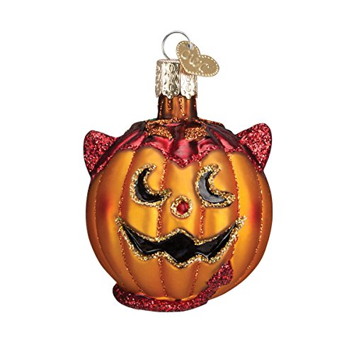 Old World Christmas Lil' Devil Pumpkin Glass Blown -
