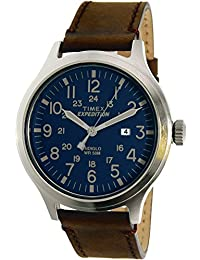 Timex Men's Expedition Scout TW4B06400 Brown Leather Quartz Watch