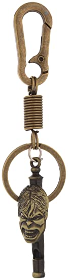Kairos Hulk Whistle Keychain with Hook Key Chain Antique Gold (KC-Hulk-Whistle-MD)