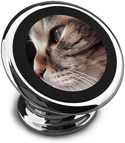 猫の視線 携帯電話ホルダー おしゃれ 車載ホルダー 人気 磁気ホルダー 大きな吸引力 サポートフレーム 落下防止 360度回転