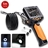 CrazyFire® 3.5 Inch 720P HD Digital Endoscope Inspection Camera,IP67 Waterproof Handheld Inspection Borescope Video Snake Camera With 8.2MM Diameter 5M Probe Cable by CrazyFire