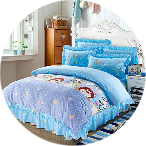 Memoirs- 100% Cotton Soft Bedclothes Queen King Size Bedding Sets Quilted Thick Bed Spread Duvet Cover Bed Sheet Set Pillowcase 4/6Pcs,Color9,King Size 4pcs ()