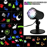 Lixada Projector Lights With 4 LED Moving Snowflake Lamp Spotlight Dynamic Landscape Lawn Rotating Light Waterproof IP65 for Christmas Halloween Holiday Party Home Decor Decoration
