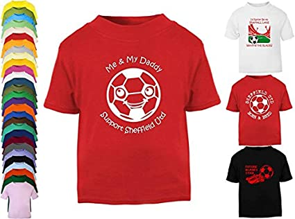 Hat-Trick Designs Sheffield United Football Baby Childrens T-Shirt Top-Red-Me /& My-Unisex Gift