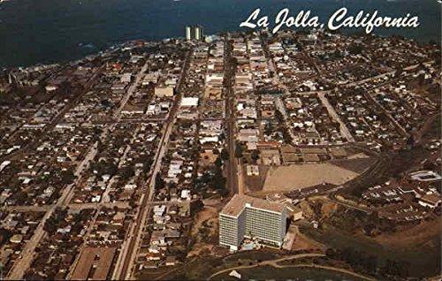 Aerial view of Town and Shoreline from the muirlands La Jolla, California Original Vintage - La Town Jolla