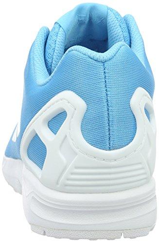 Bright Cyan Em Ciano ZX Sneaker Bright Ftwr adidas Uomo White Cyan Colori Chiaro Bianco Vari Flux Z6qWp