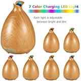URPOWER Essential Oil Diffuser 130ml Ultrasonic Aromatherapy Oil Diffuser with Adjustable Mist Mode Waterless Auto Shut-off and 7 Color Changing LED Lights Portable for Home Baby Office - Wood Grain