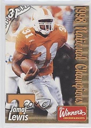 Amazon Jamal Lewis Football Card 1999 Tennessee Volunteers Team Issue