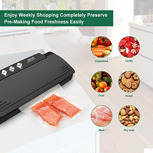 XProject Vacuum Sealer Machine Multifunction Automatic Sealing System with 10 Sealing Bags, Multi-Use Vacuum Sealing Packing System, Dry & Moist Mode for Food Savers & Sous Vide by XProject (Image #4)