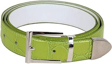 Olive Bonded Crocodile Skin High Quality Fashion Dress Belt