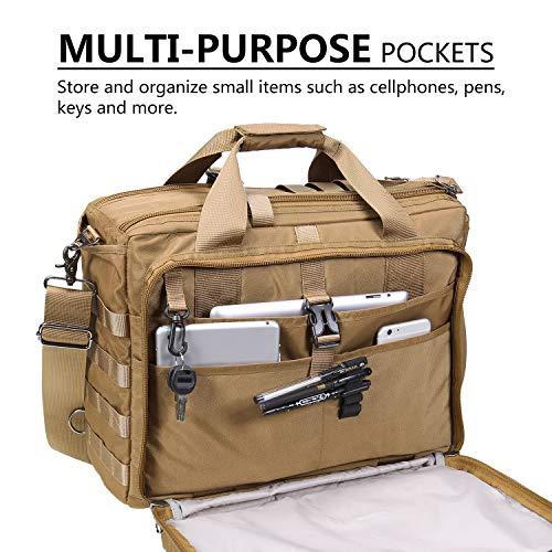 Lifewit 17'' Men's Military Laptop Messenger Bag Multifunction Tactical Briefcase Computer Shoulder Handbags by Lifewit (Image #2)