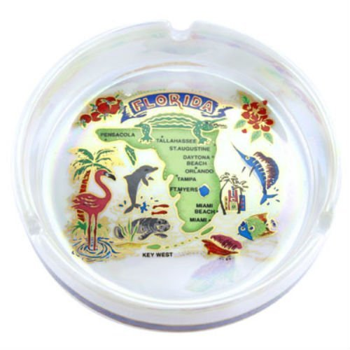 Florida State Porcelain Ashtray 5 inches