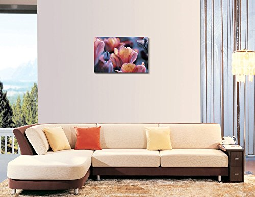 Dark and Yellow Orange Tulips Wall Decor Wood Framed