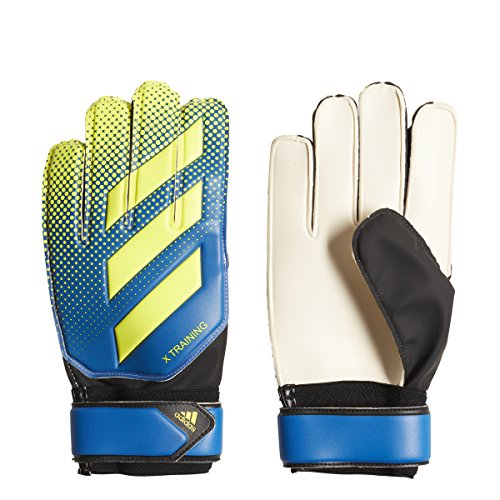 adidas Performance X Training Goalie Gloves, Football Blue/Solar Yellow/Black, Size 6
