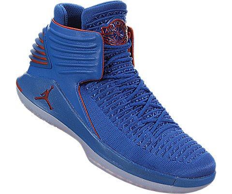 ae23d7f51851 ... Jordan Men s Retro XXXII Russ Signal Blue Team Orange-MTLC Silver (10 D