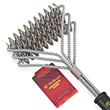 Grill Brush, Bristle Free BBQ Grill Brush 100% Rust Resistant Stainless Steel Barbecue
