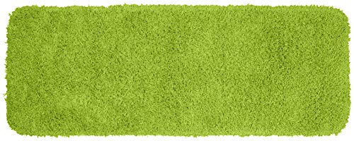 Garland Rug Jazz Runner Shaggy Washable Nylon Rug, 22-Inch by 60-Inch, Lime Green (Inexpensive Rugs Kitchen)