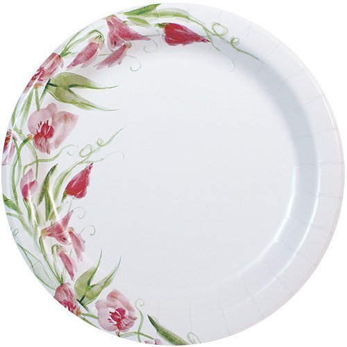 Nicole Home Collection 24 Count Everyday Paper Plate 10-Inch Pink Floral  sc 1 st  Amazon.com & Flower Paper Plates: Amazon.com