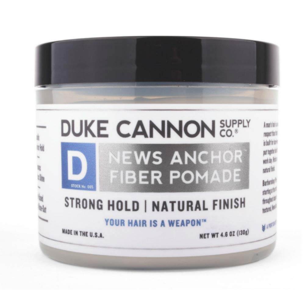 Duke Cannon News Anchor Fiber Pomade - Strong Hold and Natural Finish, 4.6oz