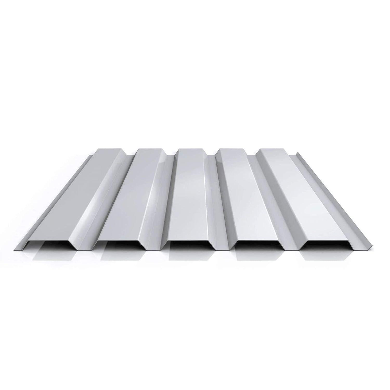 St/ärke 0,70 mm Wandblech Farbe Graualuminium Profil PA35//1035TW Material Aluminium Profilblech Beschichtung 25 /µm Trapezblech