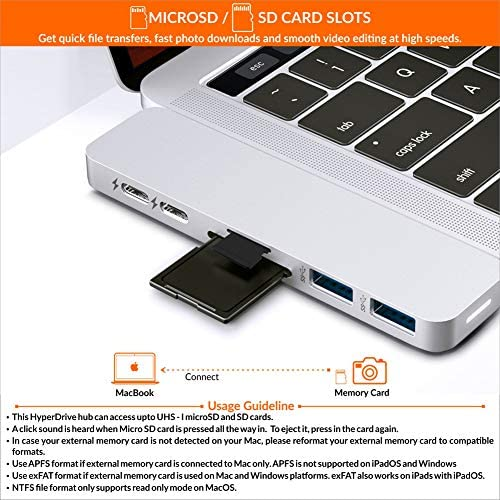Hyperdrive - Adaptador multipuerto para MacBook Pro (7 en 2, USB ...