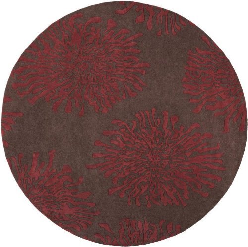 Surya Bombay 2' x 3' Hand Tufted Wool Rug in Brown and Red (Rug Surya Bombay)