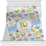 Animal Alphabet Fleece Blanket - Queen / King - 90''x90'' - Double Sided (Personalized)