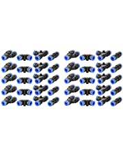 40Pcs Plastic Quick Fitting 6mm Pneumatic Push Connector Pipe Tube Fitting Straight, Elbow Union, Y Union, Tee Union Connectors PU6,PV6,PE6,PY6 Parts for Air Hose