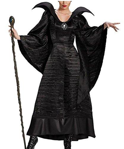 Sailor V Costume (WSPLYSPJY Women's V-Collar Black Solid Color Bat-sleeve Dress Whit Tire Black M)
