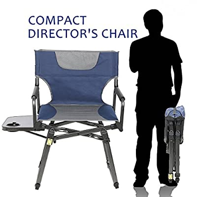 PORTAL Camping Folding Directors Chair With Cup Holder