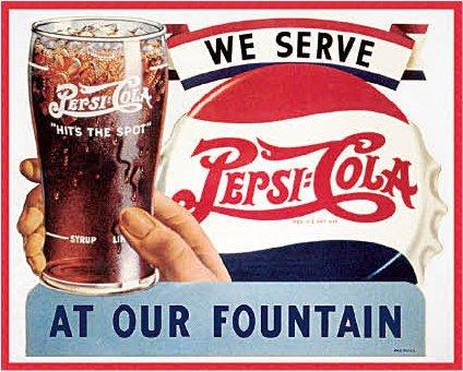 Pepsi Cola WE SERVE Cartel de Chapa Placa metal plano Nuevo ...