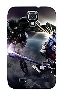 Galaxy S4 Case Cover - Slim Fit Tpu Protector Shock Absorbent Case (Anime Gundam)