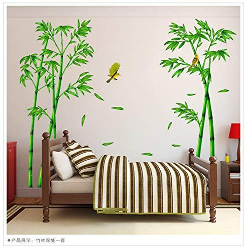RTLJN Wall Sticker Soggiorno divano TV sfondo Dipinto parete Carta decorazione del comodino rimovibile adesivo autoadesivo adesivi murali di bambù