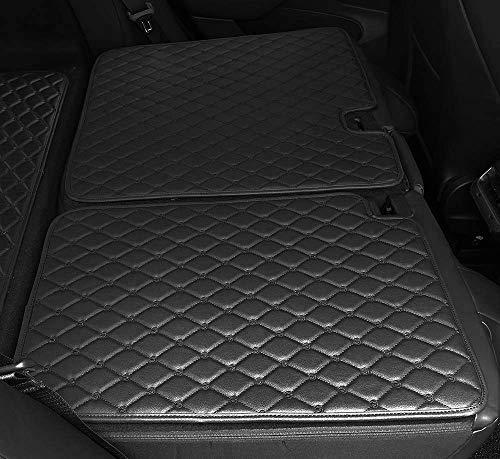 RSZX Car Back Seat Protector Mat,Durable Waterproof Leather Kick Mats - 2 Pack - Premium Quality Car Seat Protector Mats Compatible Tesla Model 3 (Black)