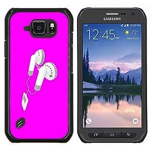 """Be-Star Único Patrón Plástico Duro Fundas Cover Cubre Hard Case Cover Para Samsung Galaxy S6 active / SM-G890 (NOT S6) ( Rosa Auriculares"""" )"""