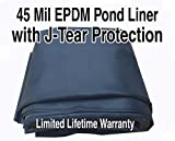 AquaTough Pond Liner with J-Test Protection 30 ft x 10 ft 45 mil Epdm