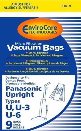 Package of 3 Replacement Panasonic U/U3/U6 Micron Filtration Bag