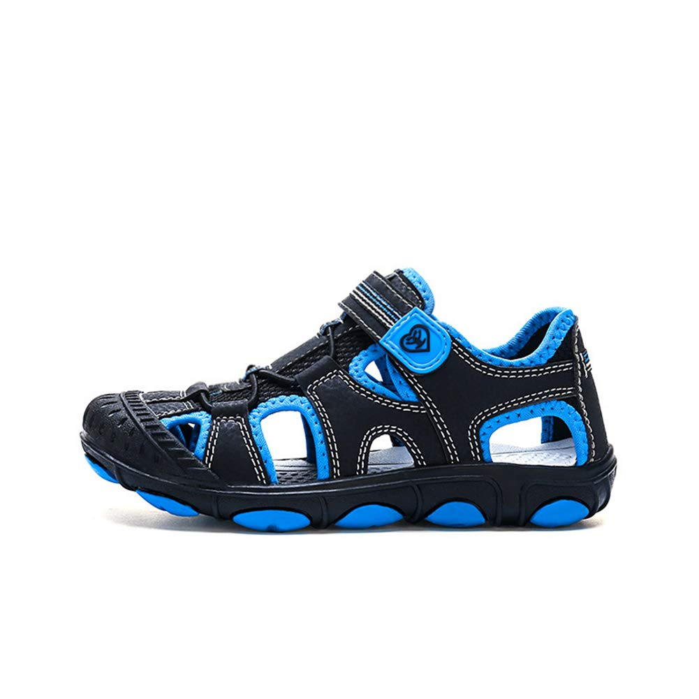 Tuoup Leather Closed Toe Athletic Skidproof Sandals for Boys