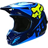Fox Racing 2016 Race Men's V1 Motocross Motorcycle Helmet - Blue/Yellow / Small